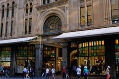 对历史的女王维多利亚大厦的入口,悉尼,澳大利亚 库存图片