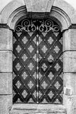 对历史建筑的门入口 免版税库存图片