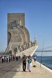 对发现的纪念碑在里斯本, 免版税库存照片