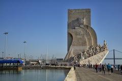对发现的纪念碑在里斯本, 库存照片