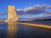 对发现的纪念碑在里斯本 库存照片