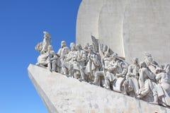 对发现的纪念碑在里斯本 图库摄影