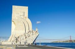 对发现的纪念碑,里斯本 图库摄影