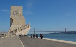 对发现贝拉母区里斯本葡萄牙的纪念碑 库存照片