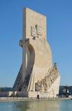 对发现贝拉母区里斯本葡萄牙的纪念碑 免版税图库摄影