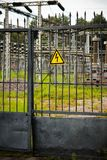 对发电站的入口 免版税库存照片