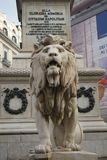 对受难者的狮子纪念碑 免版税库存照片