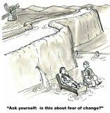 对变动的恐惧 免版税库存照片