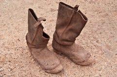 对古老马靴 库存图片