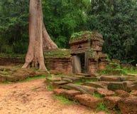 对古老Ta索马里兰寺庙的门户在吴哥,暹粒,柬埔寨 库存图片