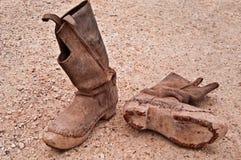 对古色古香的马靴 库存照片