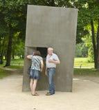 对同性恋者被迫害在纳粹主义下,柏林,德国的纪念品 免版税库存照片