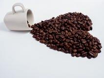 对咖啡爱  免版税库存照片