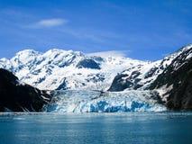 对哈立曼海湾使冰川惊奇在威廉王子湾,呀 免版税图库摄影