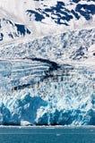 对哈立曼海湾使冰川惊奇在威廉王子湾,呀 免版税库存照片