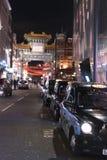 对唐人街伦敦英国的巨大的入口门 库存照片