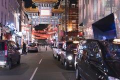 对唐人街伦敦英国的巨大的入口门 免版税库存图片