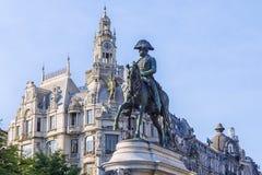 对唐佩德罗的纪念碑IV在波尔图,葡萄牙 图库摄影