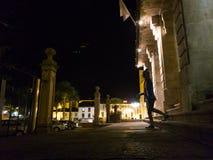 对商品型号de Sargadelos的纪念碑在里瓦德奥 免版税库存图片