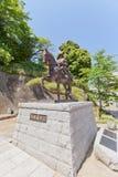 对嘉藤Yoshiaki的纪念碑在松山,日本 免版税库存照片