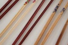 对四双筷子 免版税库存照片