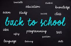对回到学校的时间 库存照片