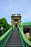 对回教神秘的寺庙新加坡的步 免版税库存图片