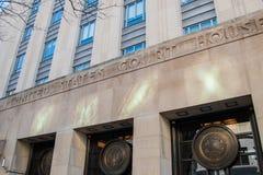 对团结的陈述的法院大楼的入口在费城 免版税库存图片