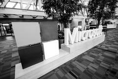 对国际大会微软汇合会议的入口 免版税图库摄影
