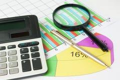 对图表的演算和分析 免版税库存照片