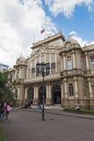 对圣何塞,哥斯达黎加主要邮局的入口  免版税库存图片