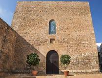 对圣塔玛丽亚教会Mojacar的入口 库存照片