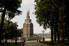 对圣弗拉基米尔的纪念碑俄罗斯的浸礼会教友 库存照片