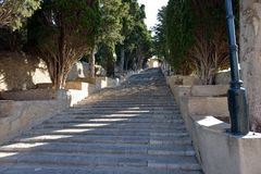 对圣徒萨尔瓦多圣所的步在阿尔塔 库存图片