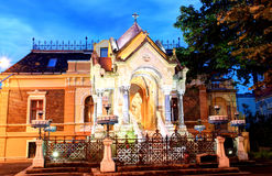 对圣母玛丽亚,蒂米什瓦拉,罗马尼亚的纪念碑 免版税库存照片