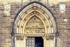 对圣皮特圣徒・彼得和圣保罗大教堂的进口  图库摄影