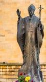 对圣约翰保禄二世教皇的纪念碑 免版税库存照片