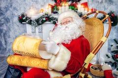 对圣诞老人的邮件 库存照片