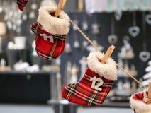 对圣诞节出现日历的读秒 免版税库存照片