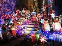 对圣诞节的楼梯 库存照片