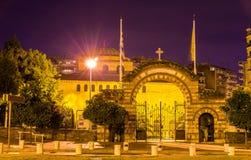 对圣索非亚大教堂教会的入口在塞萨罗尼基 免版税库存照片
