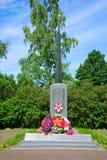 对在巨大爱国战争期间,死的乡民的纪念碑 俄国 图库摄影