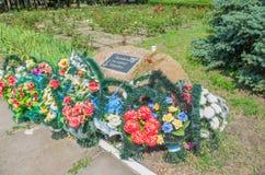 对在战争中杀害的那些的一座纪念碑 库存图片