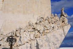 对在新的世界的发现的上纪念碑在里斯本,葡萄牙 免版税图库摄影