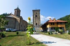 对在13。世纪建立的Rača修道院的入口 免版税库存图片