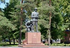 对在1939-1945失去的芬兰官员的纪念碑 cit. 库存图片