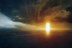 对地狱,世界的末端,判决日的门 免版税库存照片