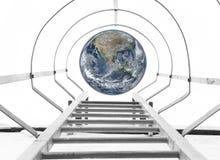 对地球概念的台阶 免版税库存图片