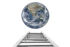 对地球概念的台阶 免版税库存照片