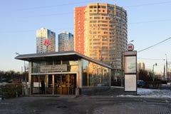 对地铁车站Chertanovskaya的入口 免版税库存图片